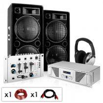 """Electronic-Star DJ PA set """"N.Y. Fireblade"""" zosilňovač, reproduktory, mixážny"""