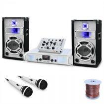 "Electronic-Star DJ PA set ""Polar fox"" s výkonom 1500 W, mixpult, zosilňovač"