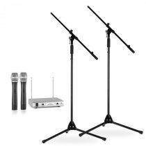 Electronic-Star Bezkáblový mikrofón, biely, so stojanom