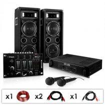 """Electronic-Star DJ PA set """"DJ–24M"""", zosilňovač, mixážny pult, repro, 1200W"""