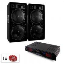 "Electronic-Star SPL Bluetooth MP3, PA set, 2 x 15"" reproduktor + zosilňovač 2000 W"