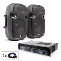 "Electronic-Star PA Set ""SPJ Boom 10"", dva 25cm reproduktory & 800W zosilňo..."