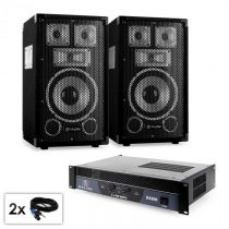 "Electronic-Star PA set série Saphir ""Warm Up Party TX8"", dva 20 cm reproduktory a ..."