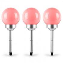 OneConcept LED-Flower 20, 3x záhradné svietidlo, solárna lampa, Ø 20 cm, 4 RGB LED diódy, IP44, červ...