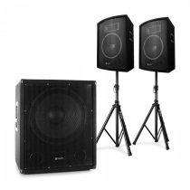 "Electronic-Star 2.1 aktívna PA DJ sada s bi-amp subwooferom, s párom 10"" reproduktorov &..."