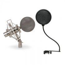Auna CRM15 páskový mikrofón, strieborný, 8, štúdio, XLR