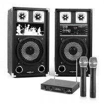Electronic-Star PA Karaoke Set 2 x PA-reproduktor, 2 x bezdrôtový mikrofón