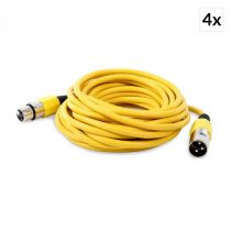 FrontStage 4x XLR kábel samec k samici, žltý, 6m