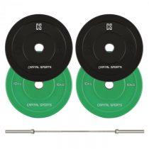Capital Sports Nipton Mens Set I, olympijská tyč, 2 páry závaží, 5 a 10 kg