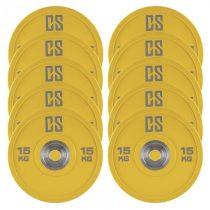 Capital Sports Performan Urethane Plates, žlté, 15 kg, 5 párov, kotúčové závažia