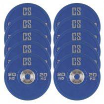 Capital Sports Performan Urethane Plates, činkové kotúče, 5 párov, 20 kg, modrá farba
