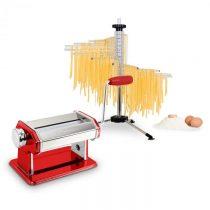 Klarstein Pasta Set, zariadenie na prípravu cestovín, červené & susič cestovín Verona