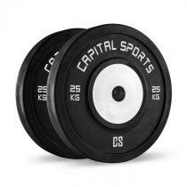 Capital Sports Inval, súťažné bumper kotúče, 50 mm, hliníkové jadro, 2 x 25 kg