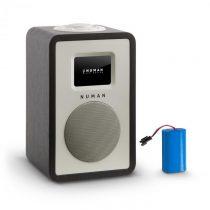 Numan Mini One Design digitálne rádio bluetooth DAB+ FM AUX čierna vrátane nabíjacej batérie