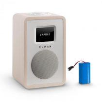 Numan Mini One Design digitálne rádio bluetooth DAB+ FM AUX javor vrátane nabíjacej batérie