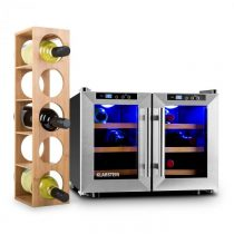 Klarstein Reserva Saloon Weinset dvojdielna vínna sada vinotéka regál na víno