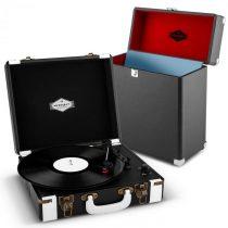 Auna Jerry Lee Record Collector Set black | retro gramofón | kufrík na gramofónové platne