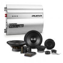 Auna Silverhammer, HiFi zostava do auta, súprava reproduktorov/2-kanálový koncový zosilňovač