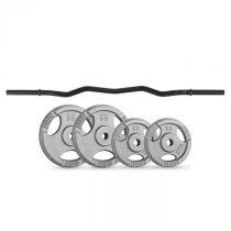 Capital Sports činkové kotúče curlbar-set 30 kg 4 závažia curlbar čierna farba