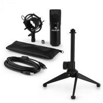 Auna MIC-900B V1, USB mikrofónová sada, čierny kondenzátorový mikrofón + stolný statív