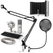 Auna MIC-900S, USB mikrofónová sada V5, strieborná, kondenzátorový mikrofón, pop filter, akustická c...