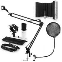 Auna MIC-900WH USB mikrofónová sada V5 kondenzátorový mikrofón, pop filter, mikrofónový absorbčný pa...