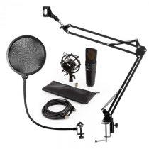 Auna MIC-920B, USB mikrofónová sada V4, čierna, kondenzátorový mikrofón, mikrofónové rameno, pop fil...