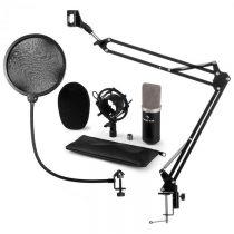 Auna CM003 mikrofónová sada V4 kondenzátorový mikrofón XLR mikrofónové rameno pop filter čierna farb...