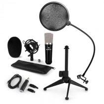 Auna CM003 mikrofónová sada V2, kondenzátorový mikrofón, USB-konvertor, mikrofónový stojan, POP filt...