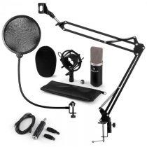 Auna CM003 mikrofónová sada V4, kondenzátorový mikrofón, USB-konvertor, mikrofónové rameno, čierna f...