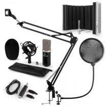 Auna CM003 mikrofónová sada V5, kondenzátorový mikrofón, USB-konvertor, čierna farba
