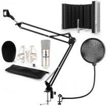 Auna CM001S mikrofónová sada V5 kondenzátorový mikrofón, mikrofónové rameno, pop filter, panel, stri...