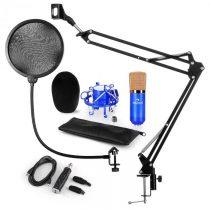 Auna CM001BG mikrofónová sada V4, kondenzátorový mikrofón, USB-adaptér, mikrofónové rameno, pop filt...