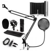 Auna CM001B mikrofónová sada V5, kondenzátorový mikrofón, USB-adaptér, mikrofónové rameno,pop filter...