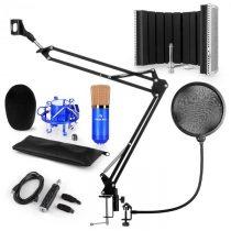 Auna CM001BG mikrofónová sada V5, kondenzátorový mikrofón, USB-adaptér, mikrofónové rameno,pop filte...