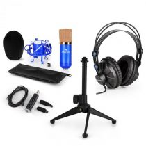 Auna CM001BG V1, mikrofónová sada, slúchadlá + kondenzátorový mikrofón sUSB adaptérom + statív, mod...