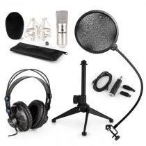 Auna CM001S V2, mikrofónová sada, slúchadlá + kondenzátorový mikrofón spop-filtrom aUSB adaptérom ...