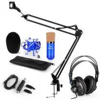 Auna CM001BG mikrofónová sada V3 slúchadlá, kondenzátorový mikrofón, USB adaptér, mikrofónové rameno...