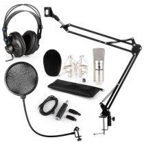 Auna CM001S mikrofónová sada V4 slúchadlá, kondenzátorový mikrofón, USB adaptér, mikrofónové rameno,...