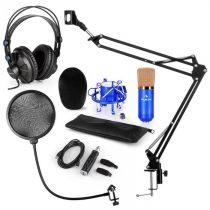 Auna CM001BG mikrofónová sada V4, slúchadlá, kondenzátorový mikrofón, USB-adaptér, mikrofónové ramen...