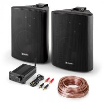 Skytec Bluetooth Play BK, PA HiFi set, dva reproduktory, mini zosilňovač s bluetooth, kábel