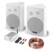 Skytec Bluetooth Play WH, PA HiFi set, dva reproduktory, mini zosilňovač s bluetooth, kábel