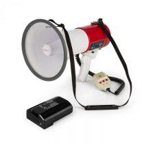 Auna MEGA080USB, megafón + batéria, set, 80 W, červený