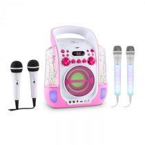 Auna Kara Liquida ružová farba + Dazzl mikrofónová sada, karaoke zariadenie, mikrofón, LED osvetleni...