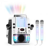 Auna Kara Liquida BT sivá farba + Dazzl mikrofónová sada, karaoke zariadenie, mikrofón, LED osvetlen...