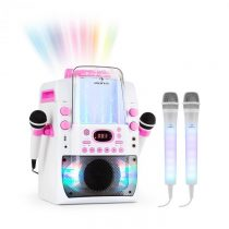 Auna Kara Liquida BT ružová farba + Dazzl mikrofónová sada, karaoke zariadenie, mikrofón, LED osvetl...