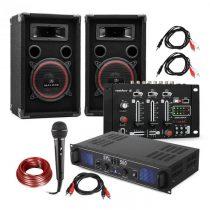 Electronic-Star DJ-14 BT, DJ PA set, PA zosilňovač, BT mixážny pult, 2 x reproduktor, karaoke mikrof...