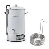 Klarstein Mundschenk + Aufwärtsspirale, sladový kotol a ponorný chladič, zariadenie na varenie piva,...