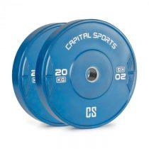 Capital Sports Nipton 20, kotúč, závažie, 1 x 20 kg, tvrdená guma, modrý