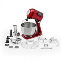 Klarstein Curve Plus, kuchynský robot, sada, 5 l, 4-in-1, mlynček na mäso, červený